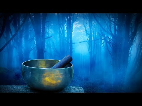 Rain in Woods + Tibetan Bowls | Relax, Study or Sleep with White Noise Music | 10 Hours