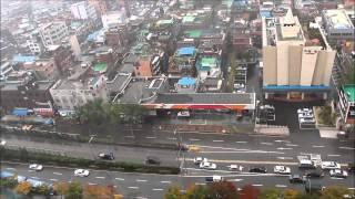 Korea - Raining day above Seoul HD