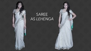 How to Wear a Saree as a Lehenga in 3 Easy Steps - Glamrs Outfit Styles