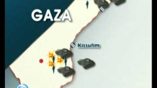 Map of Day 6 of Ground Attack on Gaza-8 January-Gaza under Fire