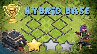 CLASH OF CLANS TH 9 HYBRID BASE | ANTI 1 AND 2 STAR | FARMING AND TROPHY PUSHING BASE