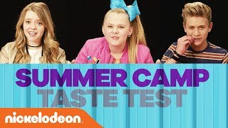 Summer Camp Food Taste Test w/ Jojo Siwa, Jack Griffo, & More | Nick