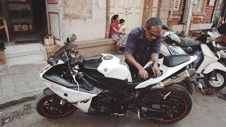Changed Battery | Yamaha R1 India | ft. Bachoo Motor | MSK vLogs #39