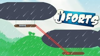 DESTROYING ZEPPELINS with FIREBEAMS! - Forts Multiplayer Gameplay