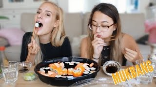 EATING SHOW: Sushi Party Box!!!!