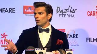 Karan Singh Grover Makes Funny Talks With Reporters at Red Carpet of Filmfare Awards