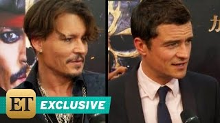 Johnny Depp Orlando Bloom Touch Down at Shanghai Disney for Epic