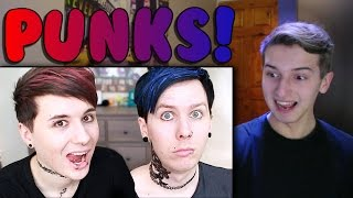 Dan and Phil PUNK EDITS IN REAL LIFE Reaction
