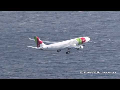 TAP Portugal Airbus A330 Arrival at Madeira Airport from Lisbon To Caraca