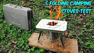 5 Folding Camping Stoves put to the Test