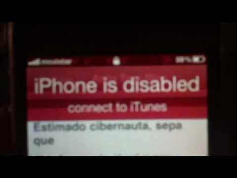 SOLUCION iPhone esta deshabilitado conectar a iTunes