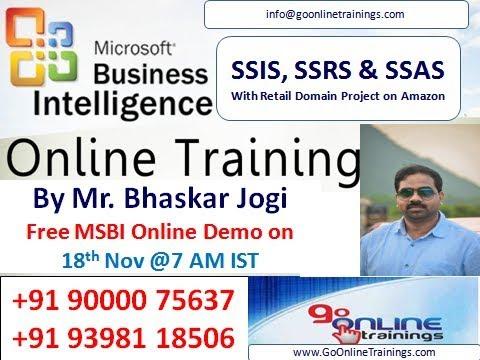 MSBI Demo by Bhaskar Jogi (SSIS, SSRS AND SSAS)