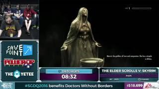 The Elder Scrolls V: Skyrim by DrTChops in 46:20 - SGDQ 2016 - Part 124
