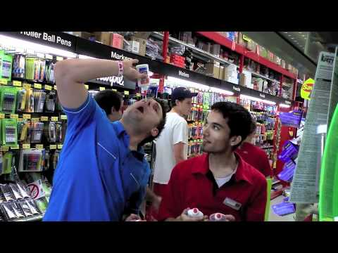 Eating Glue: Office Depot Prank - Day 201 of 365