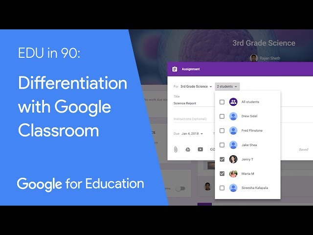 EDU in 90: Differentiation with Google Classroom