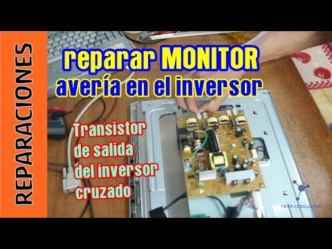 Reparar avería de inversor en un monitor. Coste menos de 3 euros