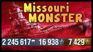 Missouri  268K DMG and 7 Kills    World of Warships