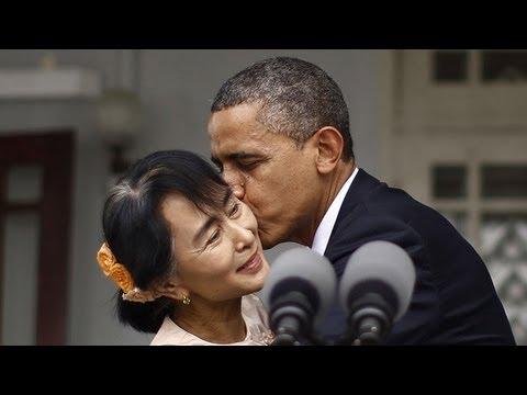 President Obama's Trip to Burma (Myanmar): Aung San Suu Kyi, University of Yangon (2012)