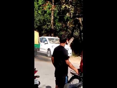 Chandigarh Drunk girls broken brand new car