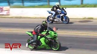 BMW S1000RR vs Kawasaki Ninja ZX10R | Drag Races