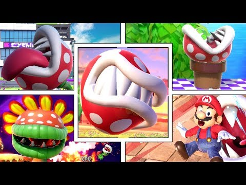 Piranha Plant s Various Funny Animations in Smash Bros Ultimate Sleeping Dizzy Swimming & More