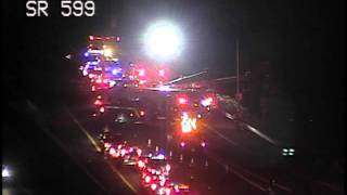 Download Semi truck crashes into the water in South Seattle 3Gp Mp4