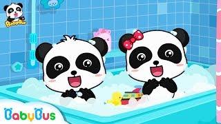 Baby Panda Loves Bubble Bath | Bathroom Safety Tips for Kids | Kids Good Habits | BabyBus
