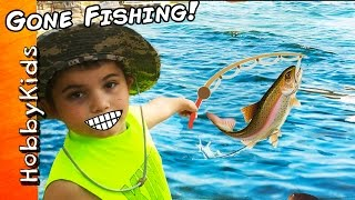 We Catch REAL HobbyFish! Trout Fishing + Family Fun Trip. Tilapia Fishing Hole Vlog HobbyKidsTV