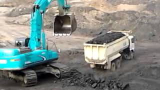 Real Coal Getting and Hauling Activity Video