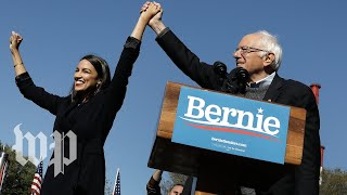 'I'm back': Sanders returns to the campaign trail with a boost from Ocasio-Cortez