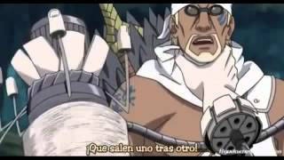 Itachi y nagato vs naruto y killer bee sub español