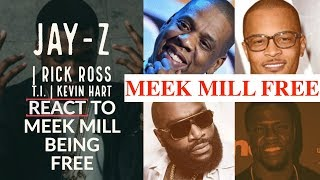MEEK MILL FREE: Jay-Z, Rick Ross and T.I. REACT to Meek Mill Being RELEASED From Jail  to 76ers Game