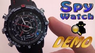 8GB Water Resistant Spy Watch Camera - BEST DEMO