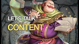 Let's Talk: Content (and a Channel Update)