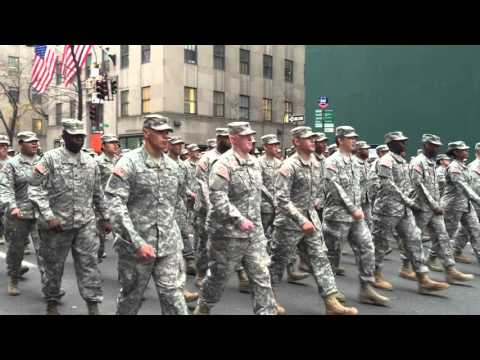 watch UNITED STATES ARMY SOLDIERS PARTICIPATING IN TODAY'S VETERANS DAY PARADE ON 5TH AVE. IN MANHATTAN.