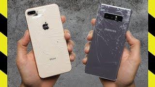 iPhone 8 Plus vs Galaxy Note 8 Drop Test!