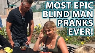 Best BLIND MAN PRANK Compilation Ever!!