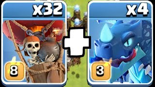 """RED & BLUE!! Power house team!! """"Clash Of Clans"""" new lvls upgraded."""