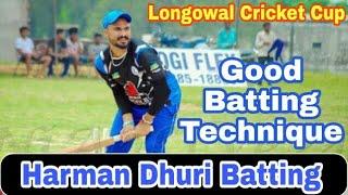Harman dhuri de top de six great innings at Longowal cricket cup    great batting techinque  big six