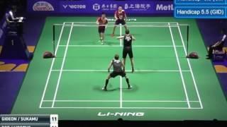 FINAL - China Open SS 2016, Marcus F Gideon/Kevin Sanjaya S VS Mathias Boe/Carsten Mogensen (1st)