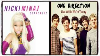 Nicki Minaj & One Direction - Sharships VS. Live While We're Young (Mashup)
