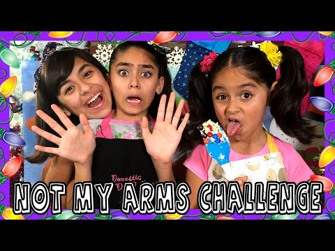 Not My Arms Challenge Decorating Christmas Cookies CHALLENGES GEM Sisters