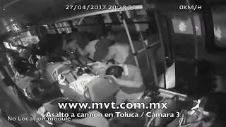 Asalto a camion en Toluca