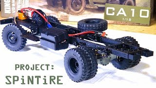 """RC ADVENTURES - Project: """"SPiNTiRE"""" - Built a ROLLER in 20 Min - King Kong RC 1/12 CA10 Truck"""