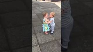 Little Girl And Boy Couple Are The Cutest