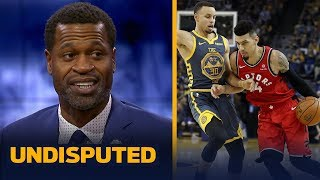 Stephen Jackson reacts to the Raptors