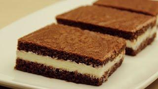 Süt Dilimi Tarifi - Kakaolu Kekiyle Süt Kremalı Yaş Pasta