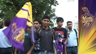 KKR FANS: Making noise before the IPL Opening Ceremony