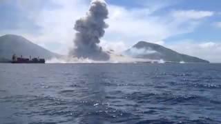 Il filmato dell'improvvisa eruzione di un vulcano in Papua Nuova Guinea
