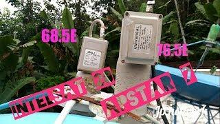 Intelsat 20 @ 68.5E & Apstar 7 @ 76.5E - Multi lnb Installation - English Hindi channels - Freedish